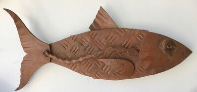 "Hugh Holborn, '""Albulidae #1"" forged salvage steel fish wall sculpture', 2019"