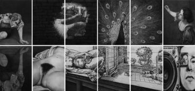 Rainer Wölzl, 'Gegeben sei - Caravaggio, Marcel Duchamp, Artemisia Gentileschi, Gustave Courbet, Albrecht Dürer, Dsiga Wertow', 2019