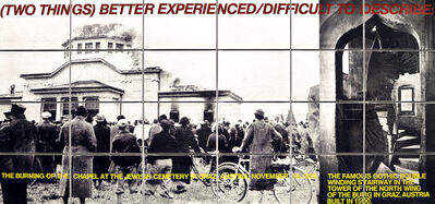 John Baldessari, '(Two Things) Better Experienced/Difficult to Describe', 1988