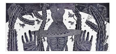 Ricky Armendariz, 'Roadman (Remix) Triptych, Hare & Hound Press', 2019