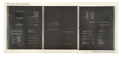 Marcel Broodthaers, 'Tractatus Logico-Catalogicus (Jamar 6)', 1972
