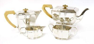 Viners Ltd., 'A silver four-piece tea set', Sheffield 1939