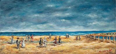 Yosl Bergner, 'Tel Aviv Beach', 1985
