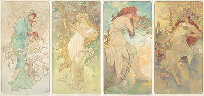 Alphonse Mucha, 'The Seasons.', 1896
