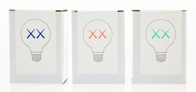 KAWS, 'Limited Edition XX Light Bulbs, set of three', 2011