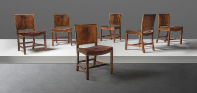 Kaare Klint, 'A set of six 'Red' dining chairs, model no. 3758', designed 1927