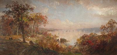 Jasper Francis Cropsey, 'October on the Hudson', 1886