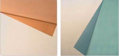 Michelle Prazak, 'Fold coral / Fold celeste', 2020