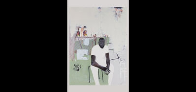 Jammie Holmes, 'A Self Portrait Of An Artist on Narrow Street', 2020
