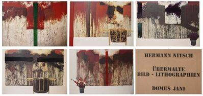 Hermann Nitsch, 'Ubermalte Bild - Lithographien, Domus Jani', 1991