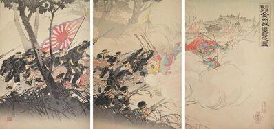 Ogata Gekkō, 'Pursuing the Retreating Enemy at Kinshu Castle (Jinzhoucheng)', 1895