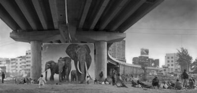 Nick Brandt, 'Underpass with Elephants (Lean Back, Your Life is on Track)', 2015