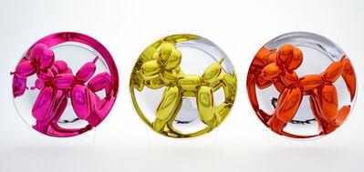 Jeff Koons, 'Set of three Balloon Dog Plates (Magenta, Yellow, Orange)', 2015
