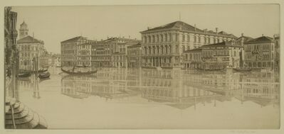 John Taylor Arms, 'Venetian Mirror, Grand Canal, Venice', 1933