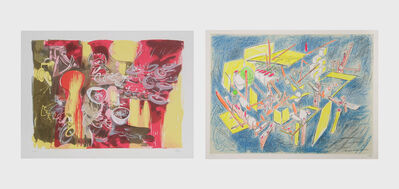 Roberto Matta, 'L'eau est mana and Octravi (Homo Flux) (two works)', 1974-1975