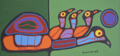 Norval Morrisseau, 'A Journey Of The Young', 1990