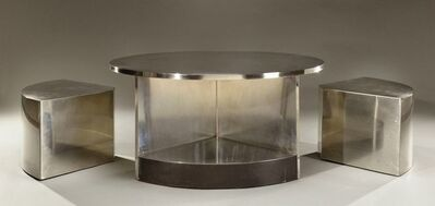 Maria Pergay, 'Two-Seat Tambour Table', 1968