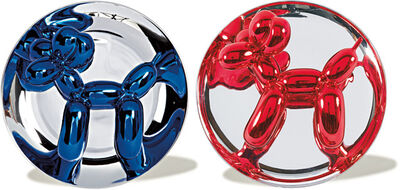 Jeff Koons, 'Blue & Red Balloon Dog Set', 1995-2002