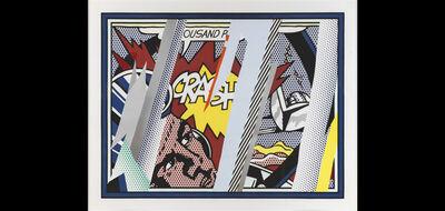 Roy Lichtenstein, 'Reflections on Crash', 1991