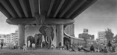 Nick Brandt, 'Underpass With Elephant (Lean back your life is on track)', 2015
