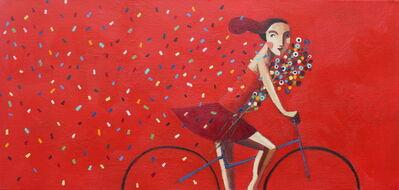 Didier Lourenço, 'Red and petals', 2019