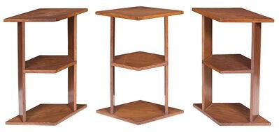 Eugène Printz, 'Three Eugene Printz Walnut Three-Tiered Tables', Circa 1928