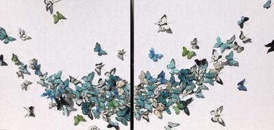 Juan Carlos Collada, 'Luna Blu (Diptych)', 2020