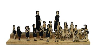 Alexander Shishkin-Hokusai, 'Struggle of the Dressed and the Naked', 2014
