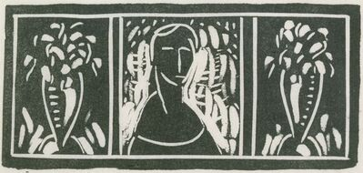 Alfred H. Maurer, 'Linoleum Cut with Tribute by Sherwood Anderson', Date unknown