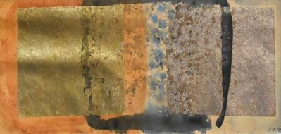 Dusti Bongé, 'Untitled (Two Squares with Black, Blue and Orange)', 1989