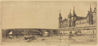 Charles Meryon, 'Le Pont-au-Change, Paris', 1854