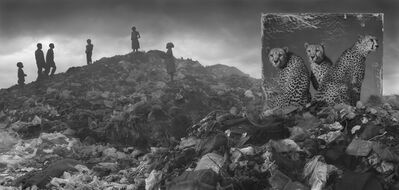 Nick Brandt, 'Wasteland with Cheetahs and Children', 2015