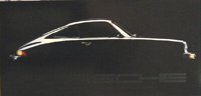 Val Gelineau, 'Porsche Black on Black, Official Factory Licensed and Copyrighted Poster, Gallery Poster ', 1989