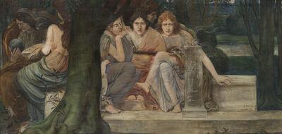 Constant Montald, 'Allégorie des genres littéraires, sd', Not dated