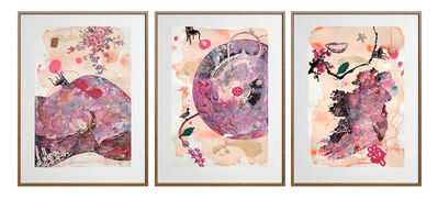 Ritu Sinha, 'My Body My Soul (Triptych) - Three Panel Painting by Indian Artist about Abortion Rights in Ireland', 2019