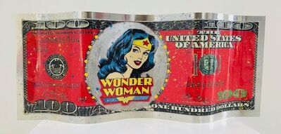 Alain Mimouni, 'Small Dollar Wonder Woman - Red', 2019