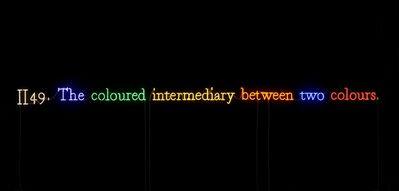 Joseph Kosuth, ''#II49. (On Color/Multi #9)'', 1991