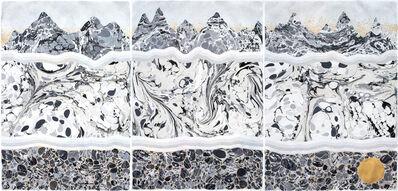 """Crystal Liu, 'underground """"ready to wake"""" (triptych)', 2017"""