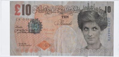 Banksy, 'Di-Faced Tenner, 10 GBP Note', 2005