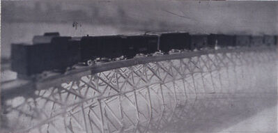 Lothar Osterburg, 'Freight Train on Bridge', 2004