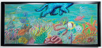 Federico Uribe, 'Dog Swimming in Reef', 2017