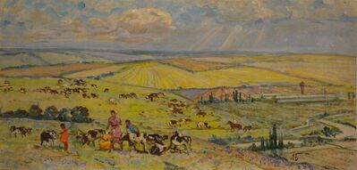 Aleksey Ivanovich Borodin, 'In the fields of the kolkhoz', 1979