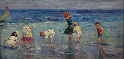 Edward Henry Potthast, 'Beach Scene'