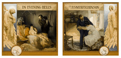 Edmund Franklin Ward, 'In Evening Bells, Front & Back Book Cover', 1923