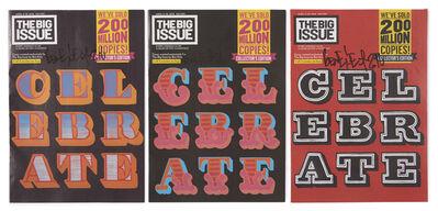Ben Eine, 'Three Signed Big Issue', 2016