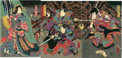 Utagawa Toyokuni III (Utagawa Kunisada), 'Princess Wakana and Spider Magic', 1853