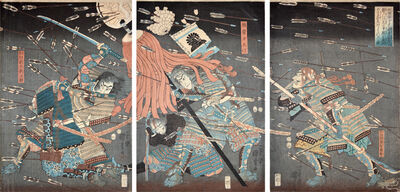 Utagawa Kuniyoshi, 'Last Stand of Kusunoki Clan at Shijo-Nawate', 1857