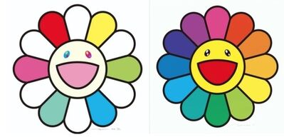 Takashi Murakami, 'Smile every day with Flowers / Smile On, Rainbow Flower! (set of 2 works)', 2020