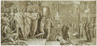 Pedro de Campaña, 'Flavius Josephus and Vespasian', ca. 1570