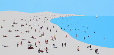 Natan Elkanovich, 'Beach Mood 6 - landscape painting', 2018